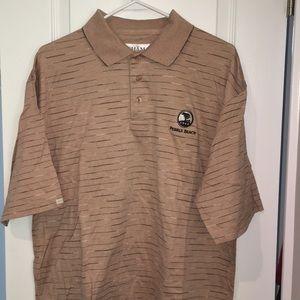 Clint Tehama Pebble Beach 1919 Golf Polo Shirt M